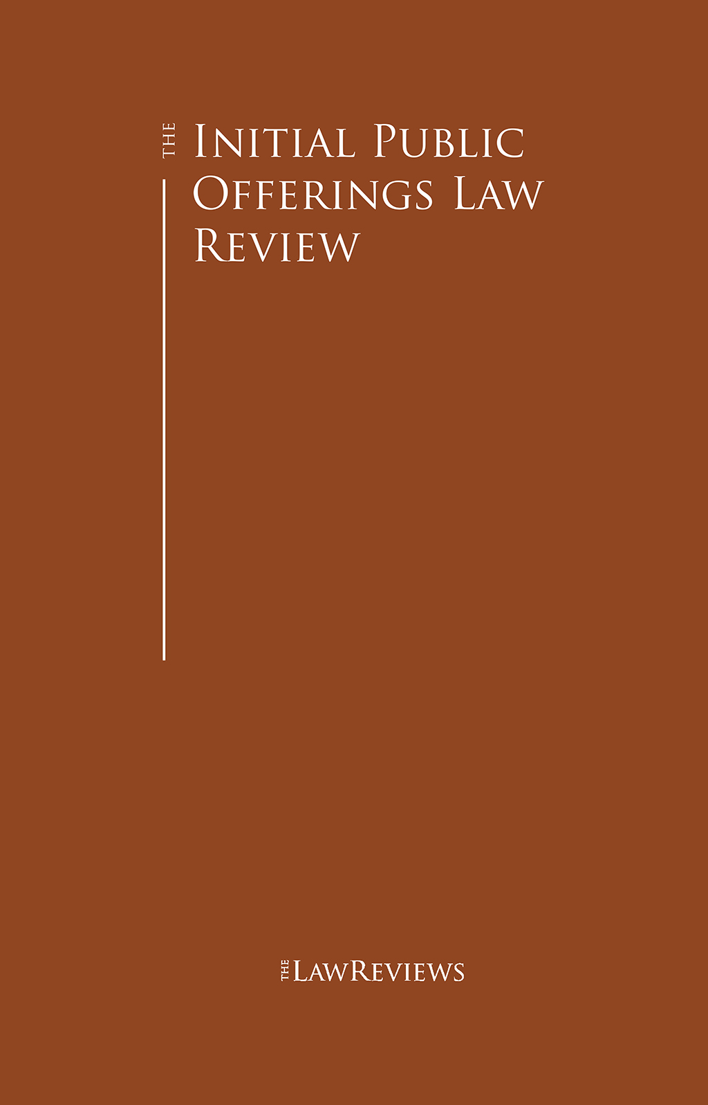 The Initial Public Offerings Law Review