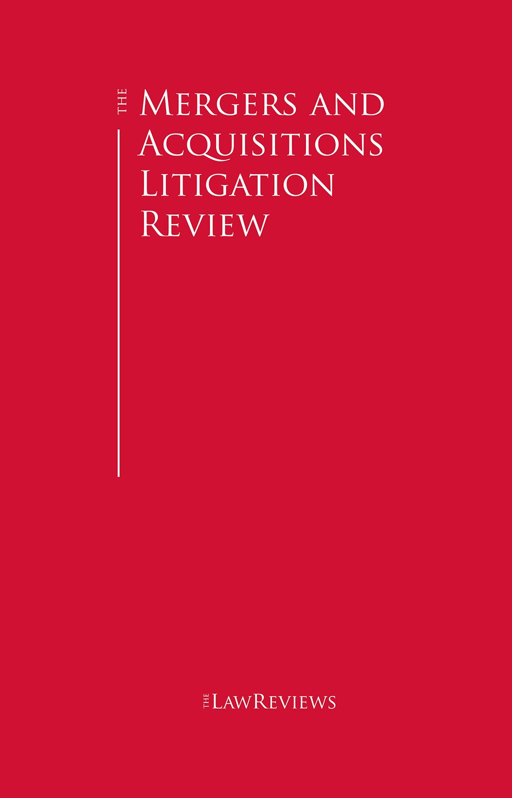 The Mergers & Acquisitions Litigation Review