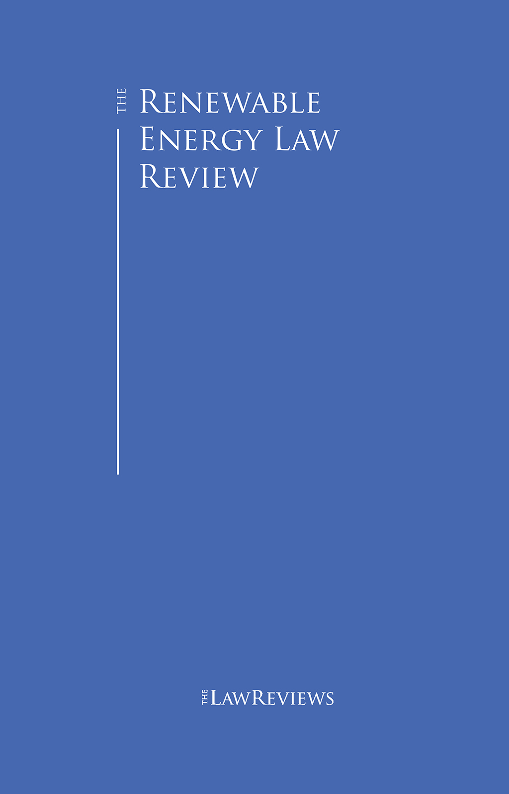 The Renewable Energy Law Review